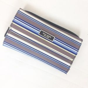 Kate Spade a Striped Canvas Wallet